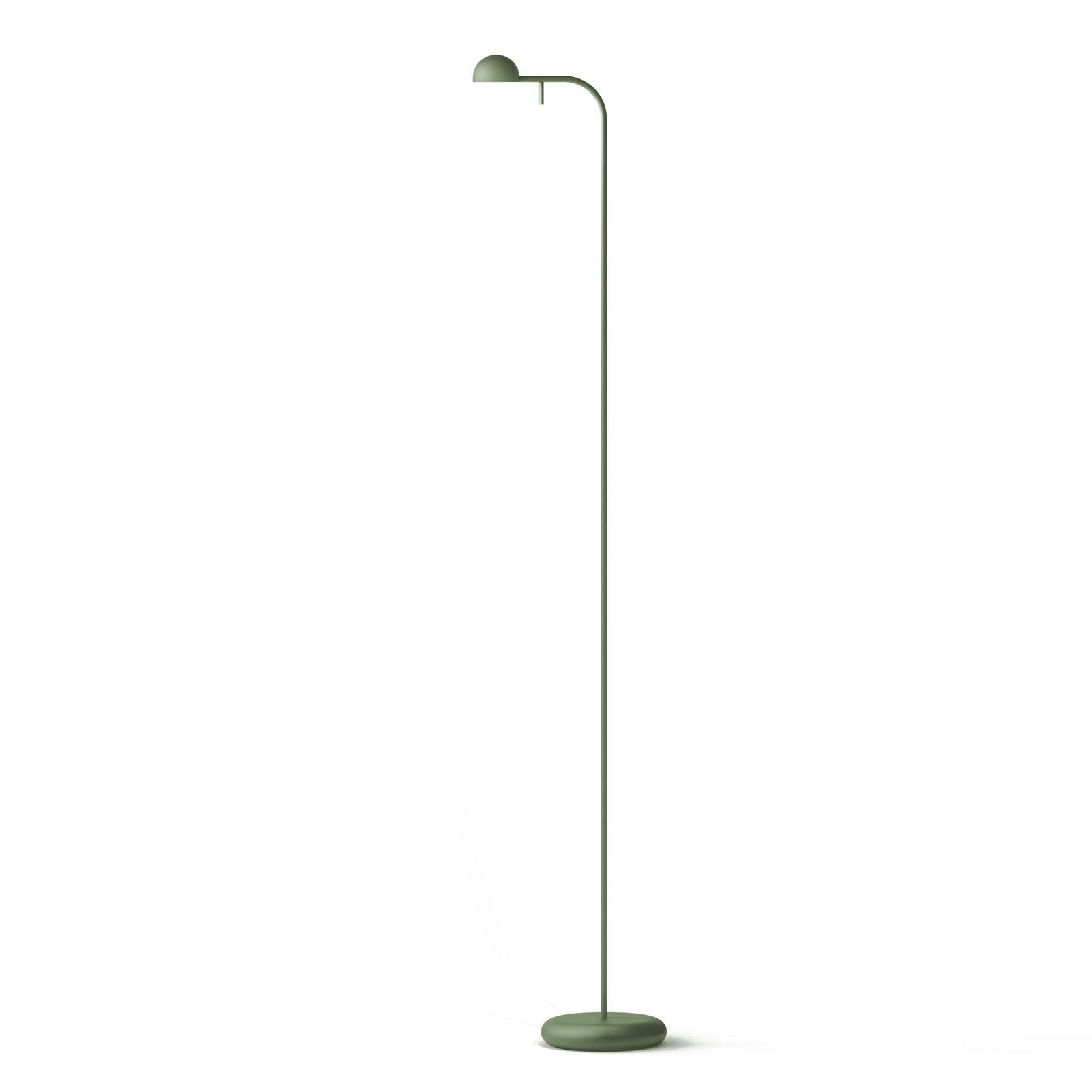 Vibia Pin 1660 LED-lattiavalaisin, 125 cm, vihreä