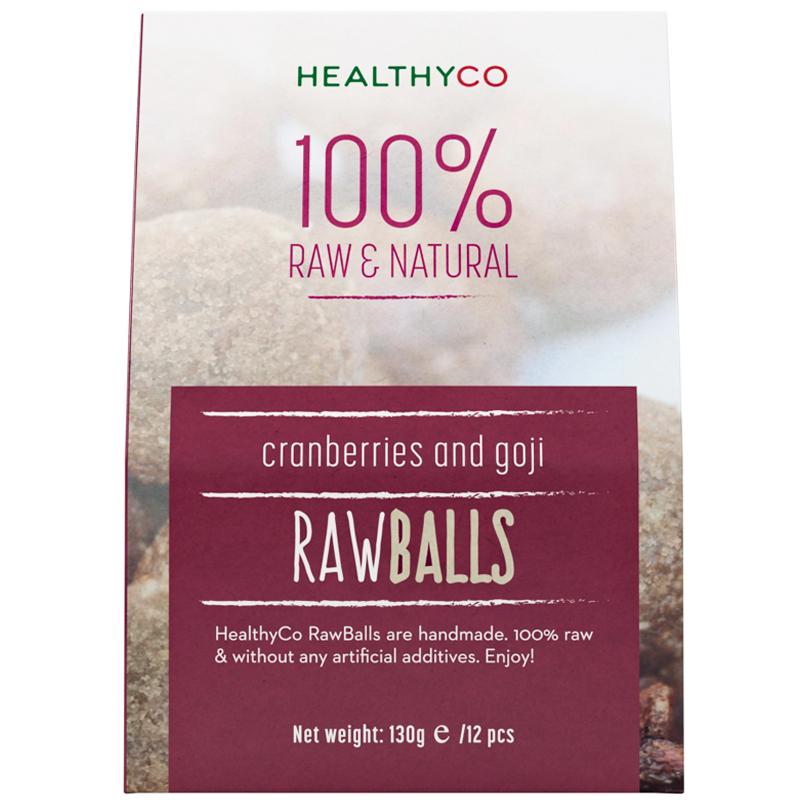"""Rawballs """"Cranberry & Goji"""" 130g - 57% rabatt"""