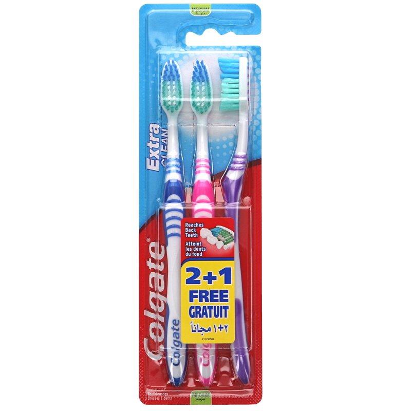 """Tandborstar """"Extra Clean"""" 3-pack - 24% rabatt"""
