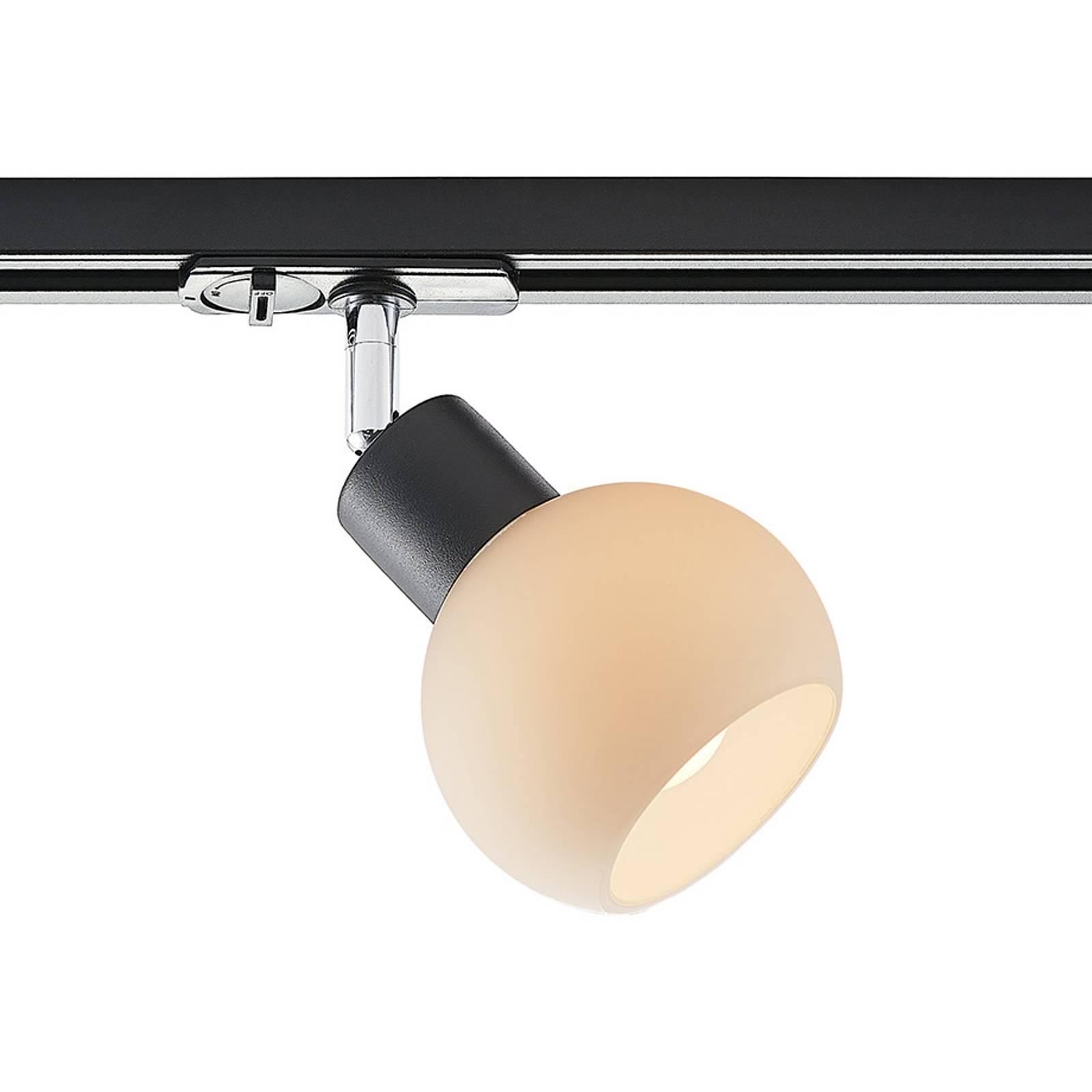 Lindby Maart -LED-spotti 1-vaihekiskoon, musta