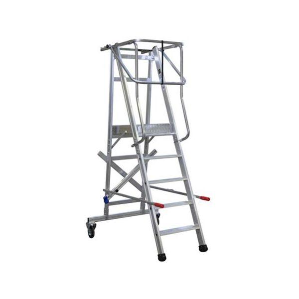 Laggo 7100 Arbeidsplattform med beskyttelsesrekkverk og hjul 100 cm