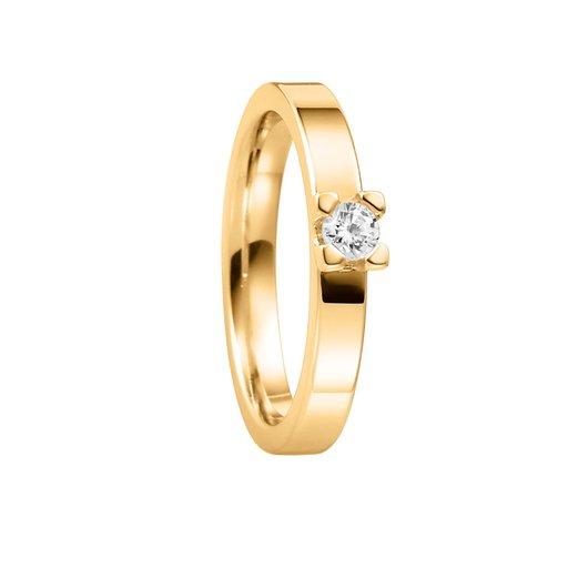 Diamantring i 18K guld, 47