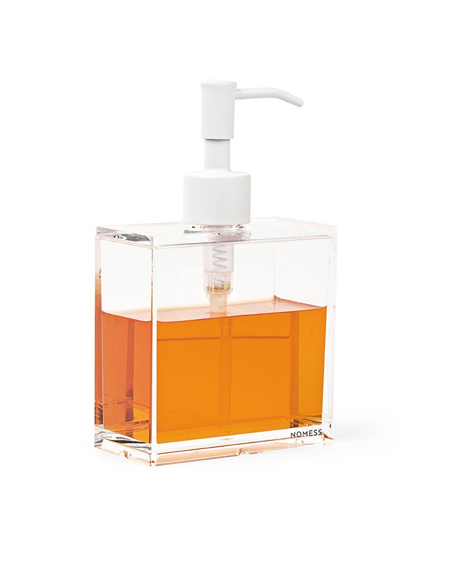 Nomess Copenhagen - Clear Soap Dispenser Small - White (12046)