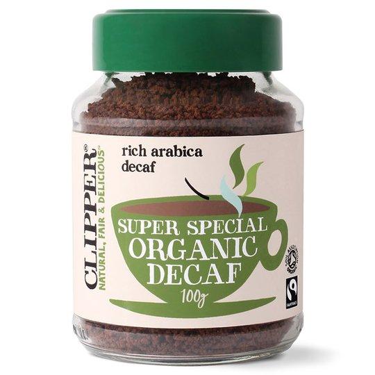 Clipper Koffeinfritt Snabbkaffe, 100 g