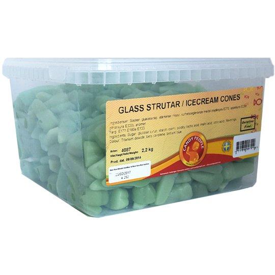 "Hel Låda Godis ""Glasstrutar"" 2,2kg - 85% rabatt"