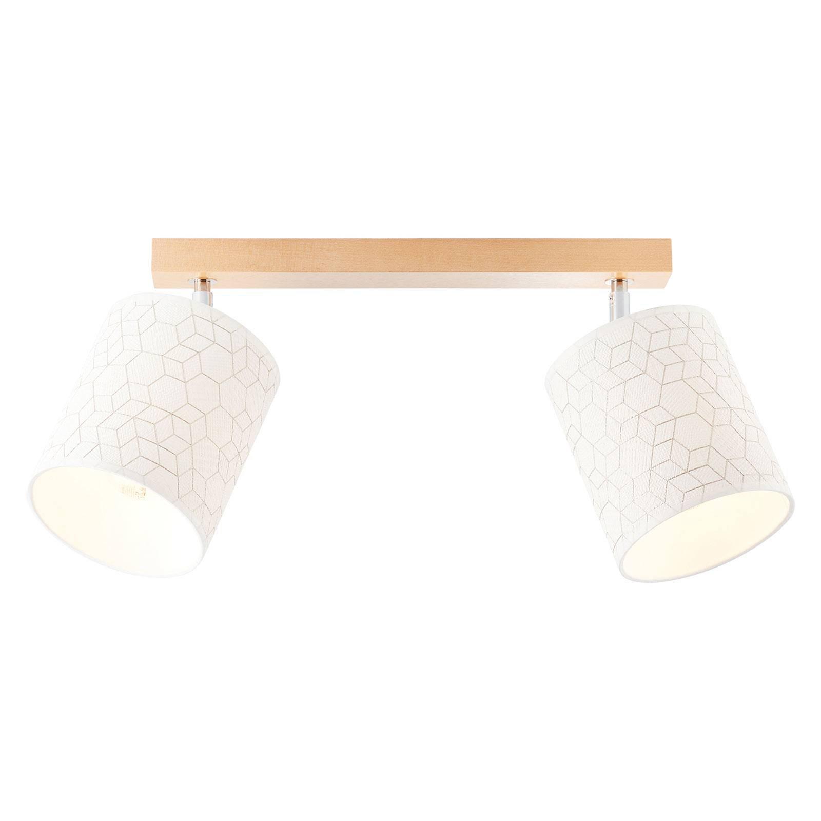 Taklampe Galance, hvit, 2 lyskilder