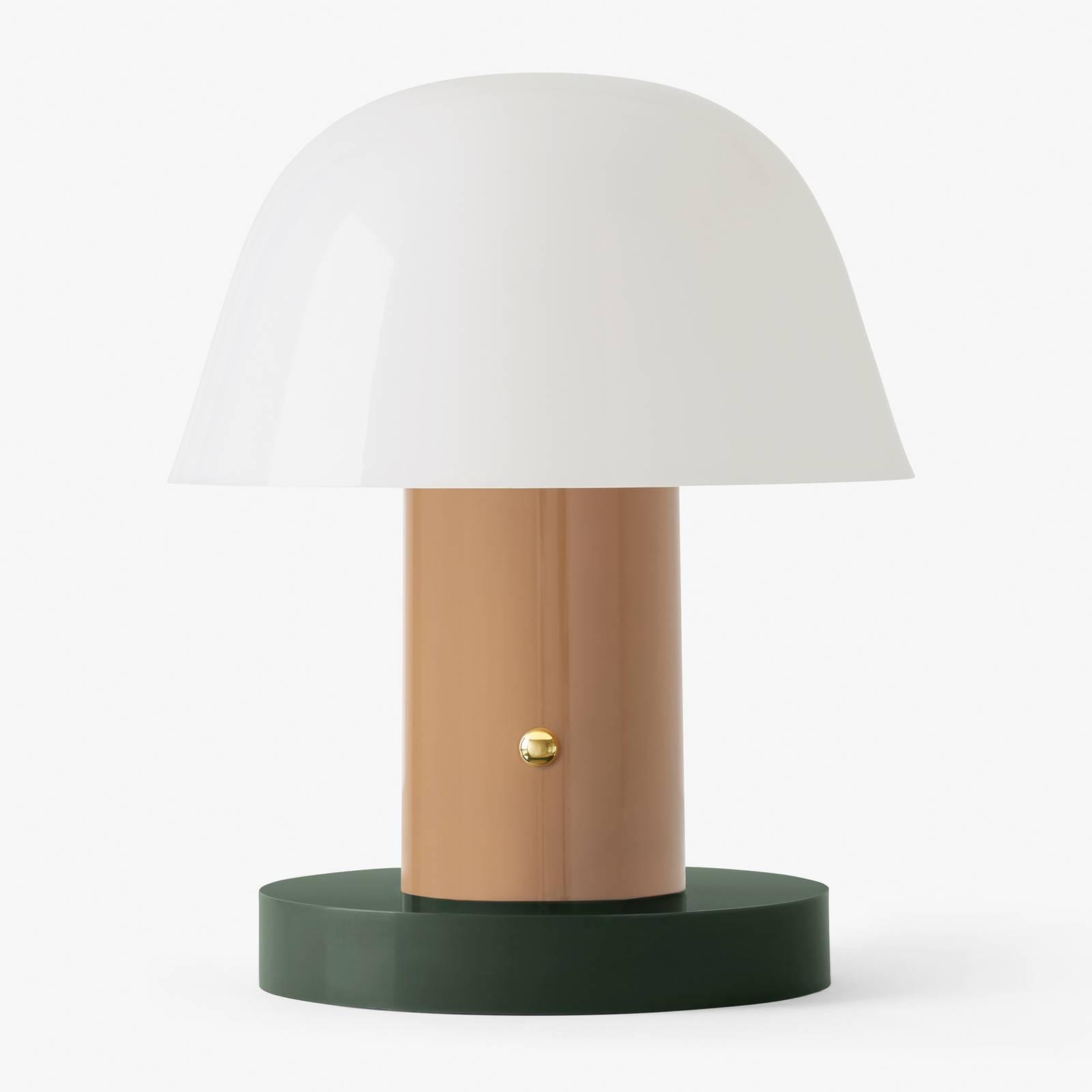 &Tradition Setago JH27 pöytälamppu nude/vihreä