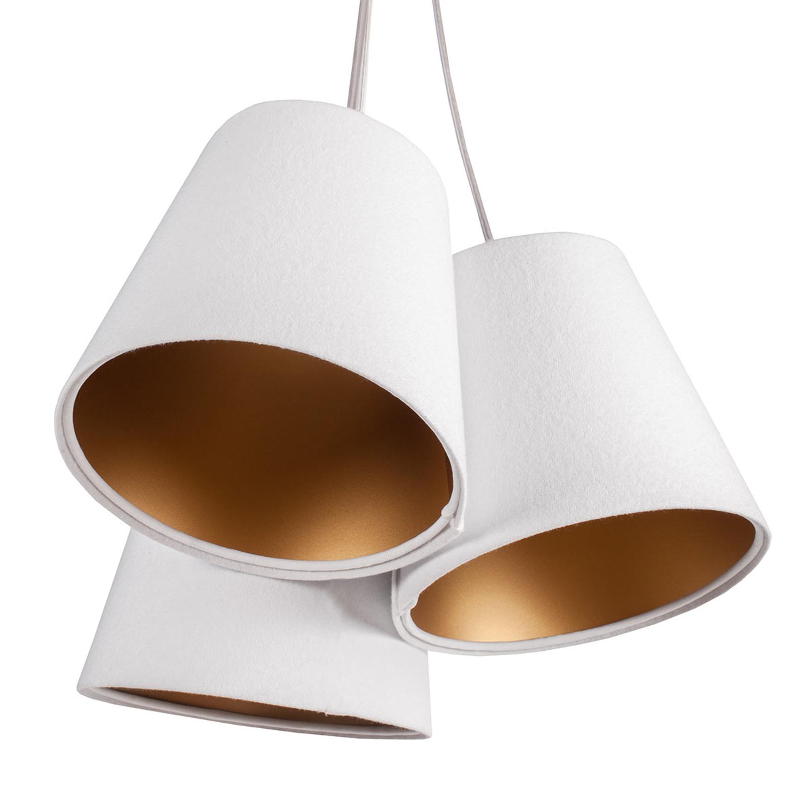 Riippuvalo Ambrozja 3-lamp. 2-värisin varjostimin