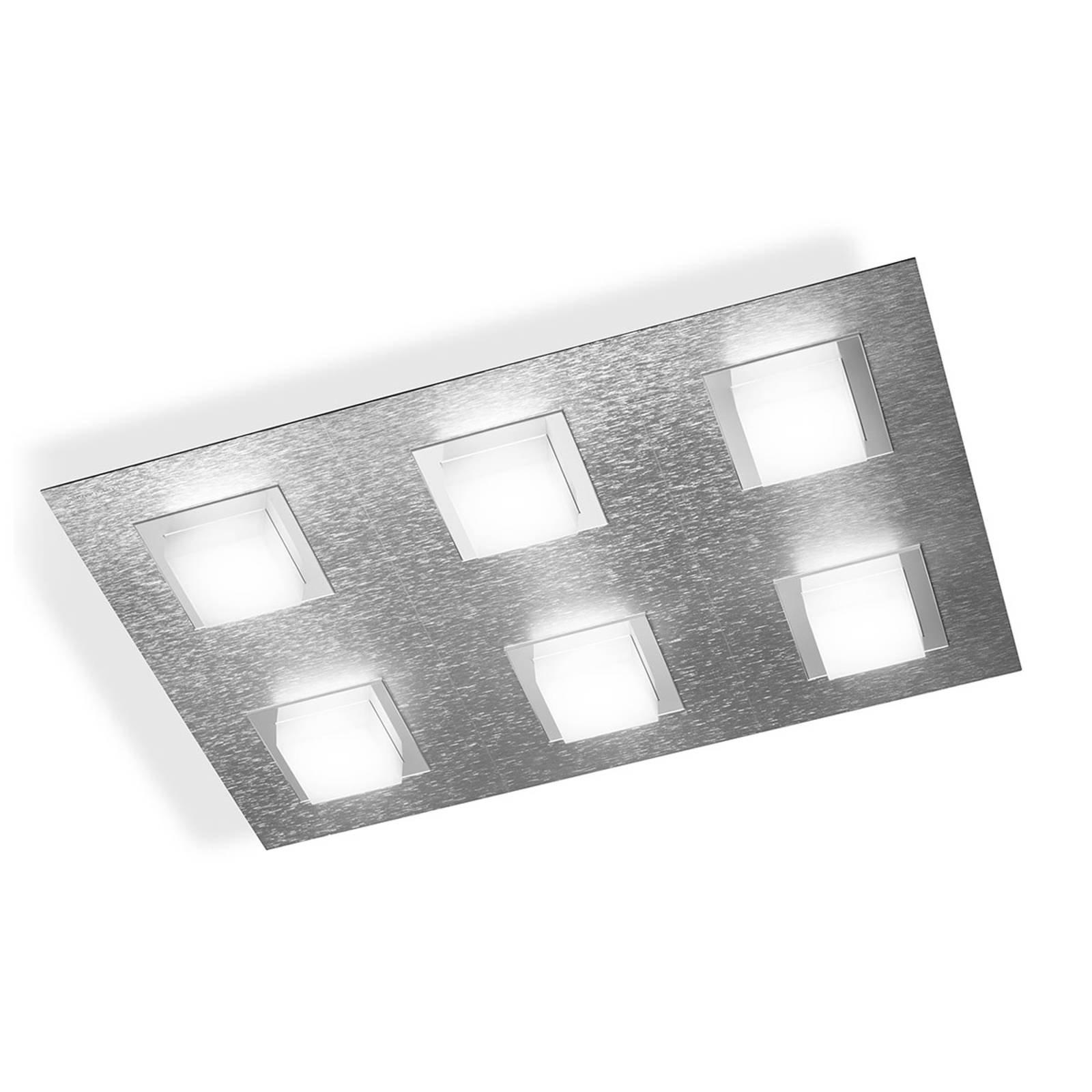 GROSSMANN Basic LED-taklampe 6lk., aluminium
