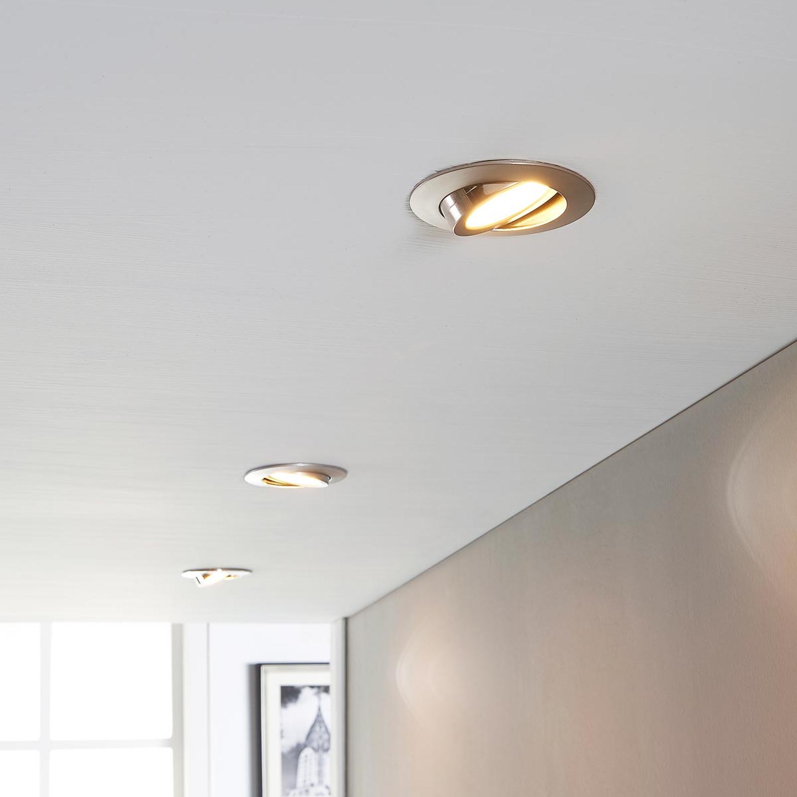 LED-kohdevalaisin Andrej, pyöreä, nikkeli, 3-sarja