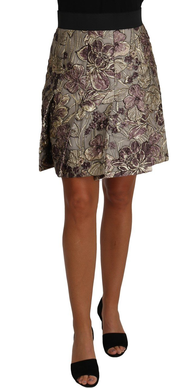 Dolce & Gabbana Women's A-Line Mini Floral Skirt Multicolor PAN61031 - IT40 S