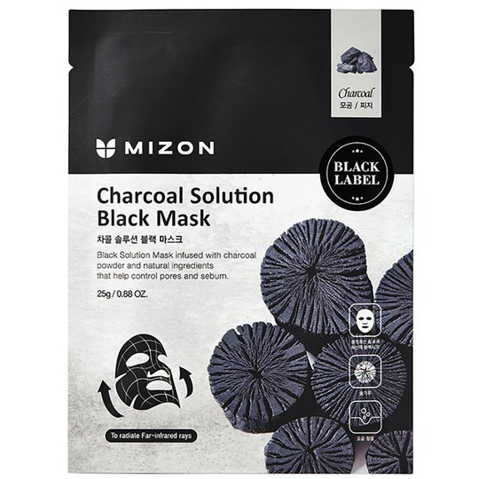 Charcoal Solution Black Mask, 25 g Mizon Kasvonaamio