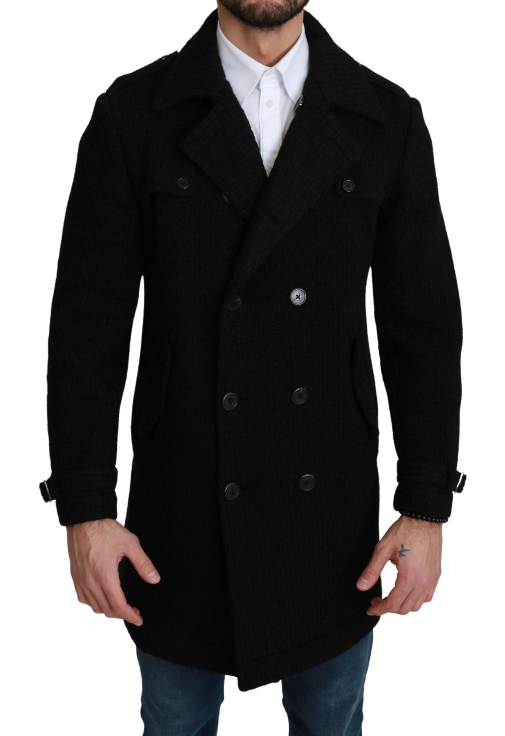 Dolce & Gabbana Men's Formal Virgin Wool Jacket Black KOS1750 - IT48   M