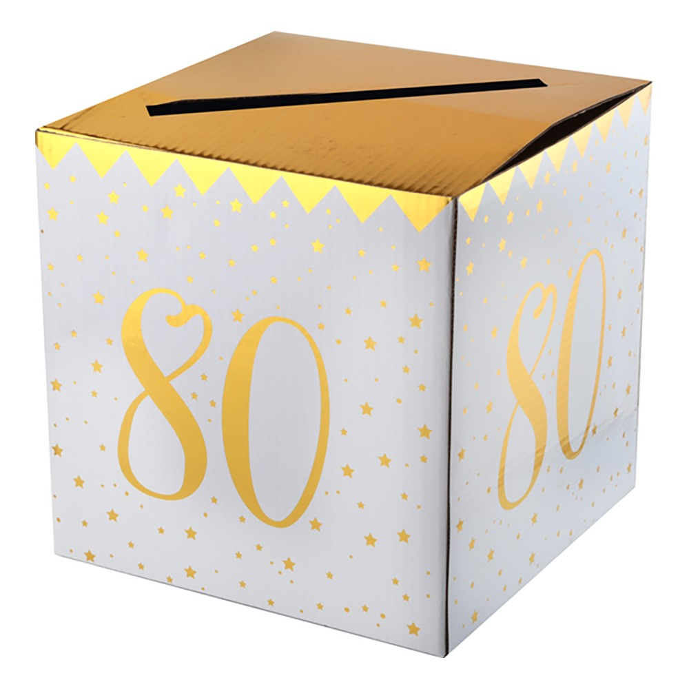 Presentbox Siffra med sedelfack Guld - Siffra 80