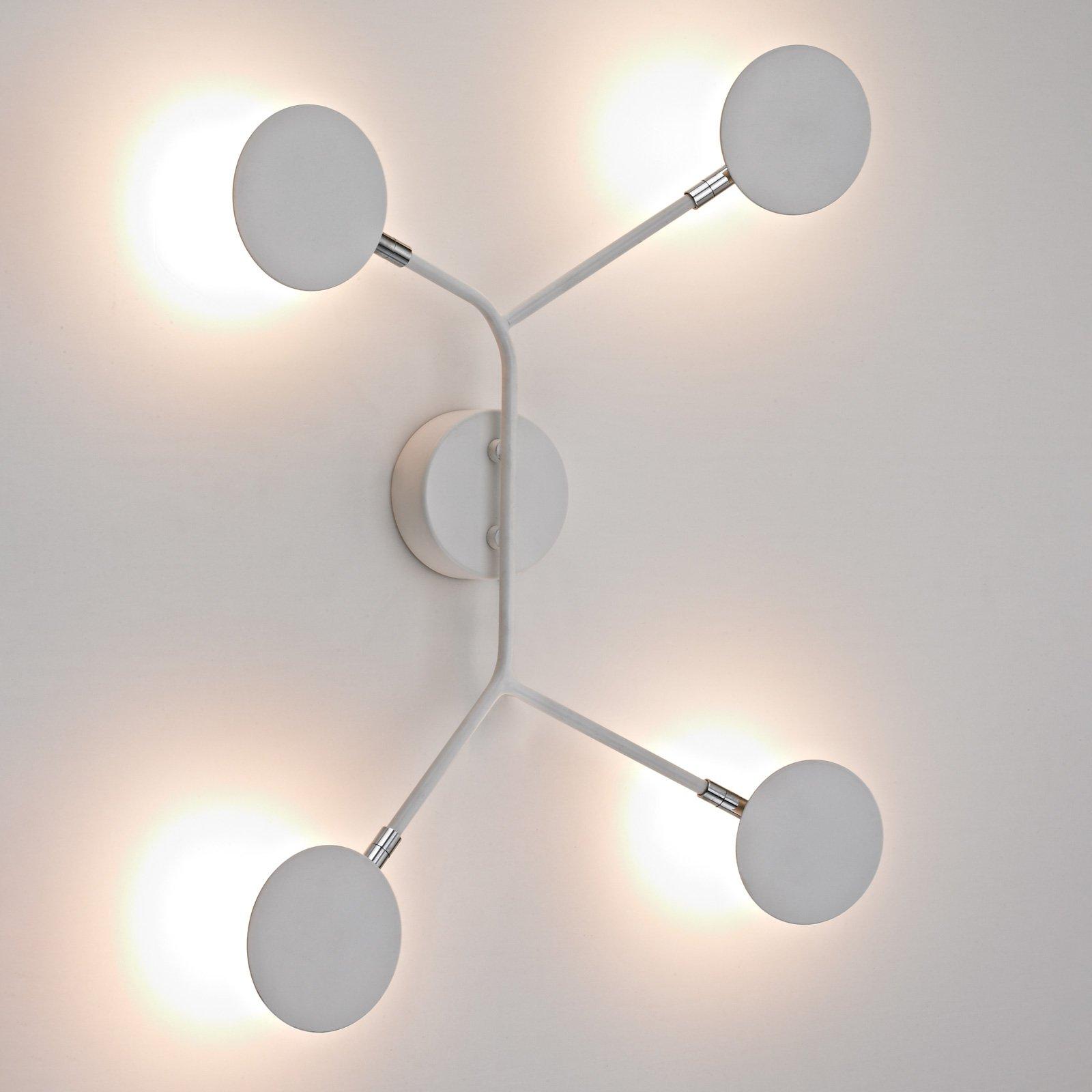 LED-vegglampe Belize, 4 lyskilder, hvit