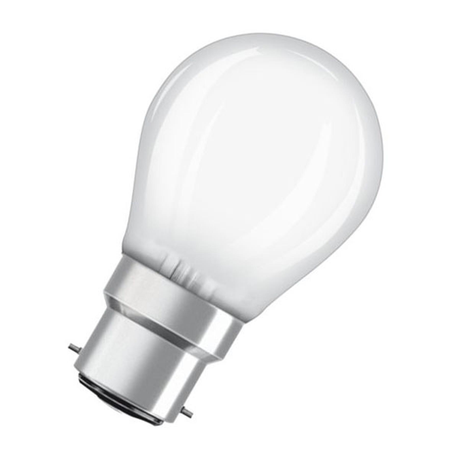 OSRAM-LED-golfpallolamppu B22d 5W 2 700 K matta