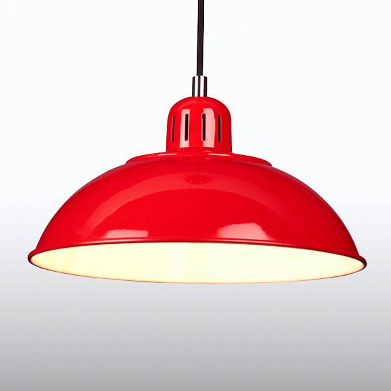 Rød hengelampe Franklin i Retro-design