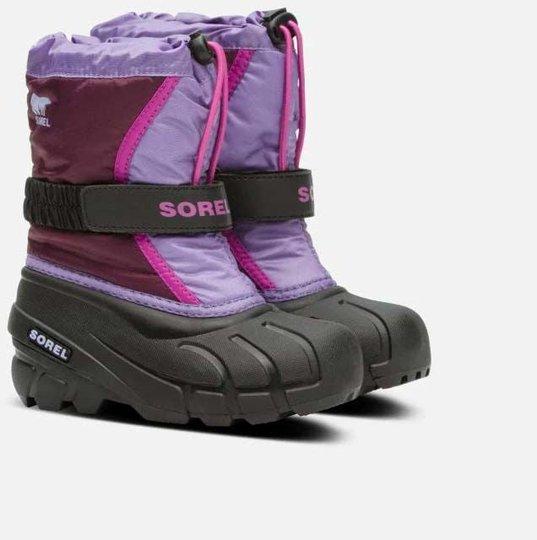 Sorel Childrens Flurry Vintersko, Purple Dahlia, 26