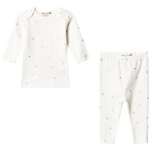 Bonpoint Cherry Pyjamas Vit 3 months