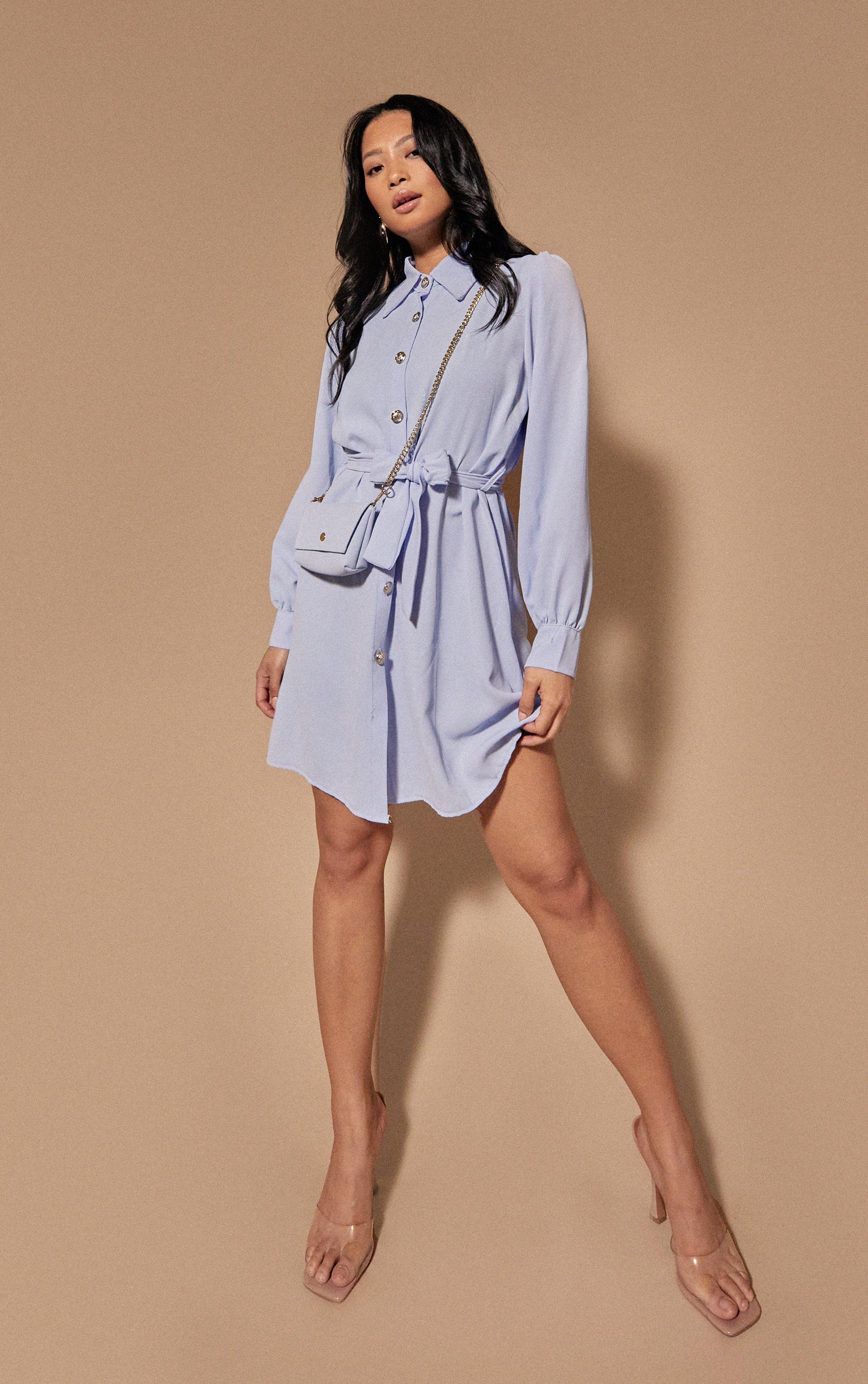 Breezy Shirt Dress - Blue / 8/10