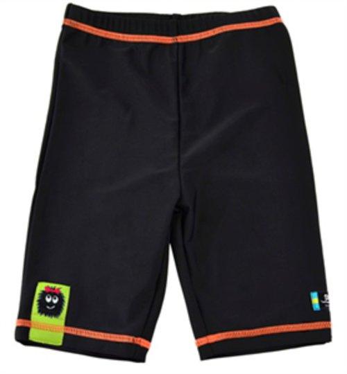 Swimpy UV-shorts Monster, Svart/Oransje 86/92