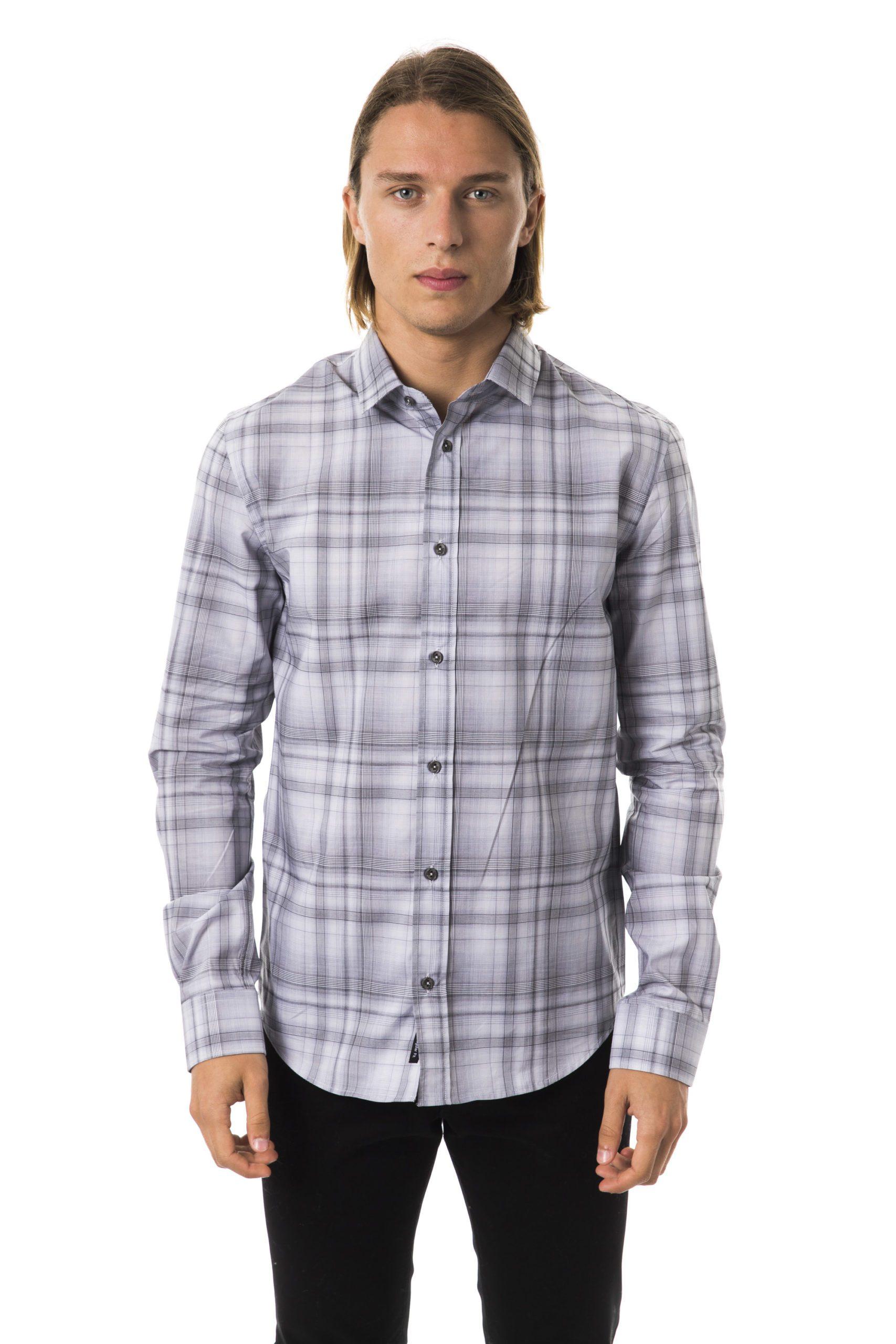 BYBLOS Men's Grigionaturale Shirt Gray BY1394830 - S