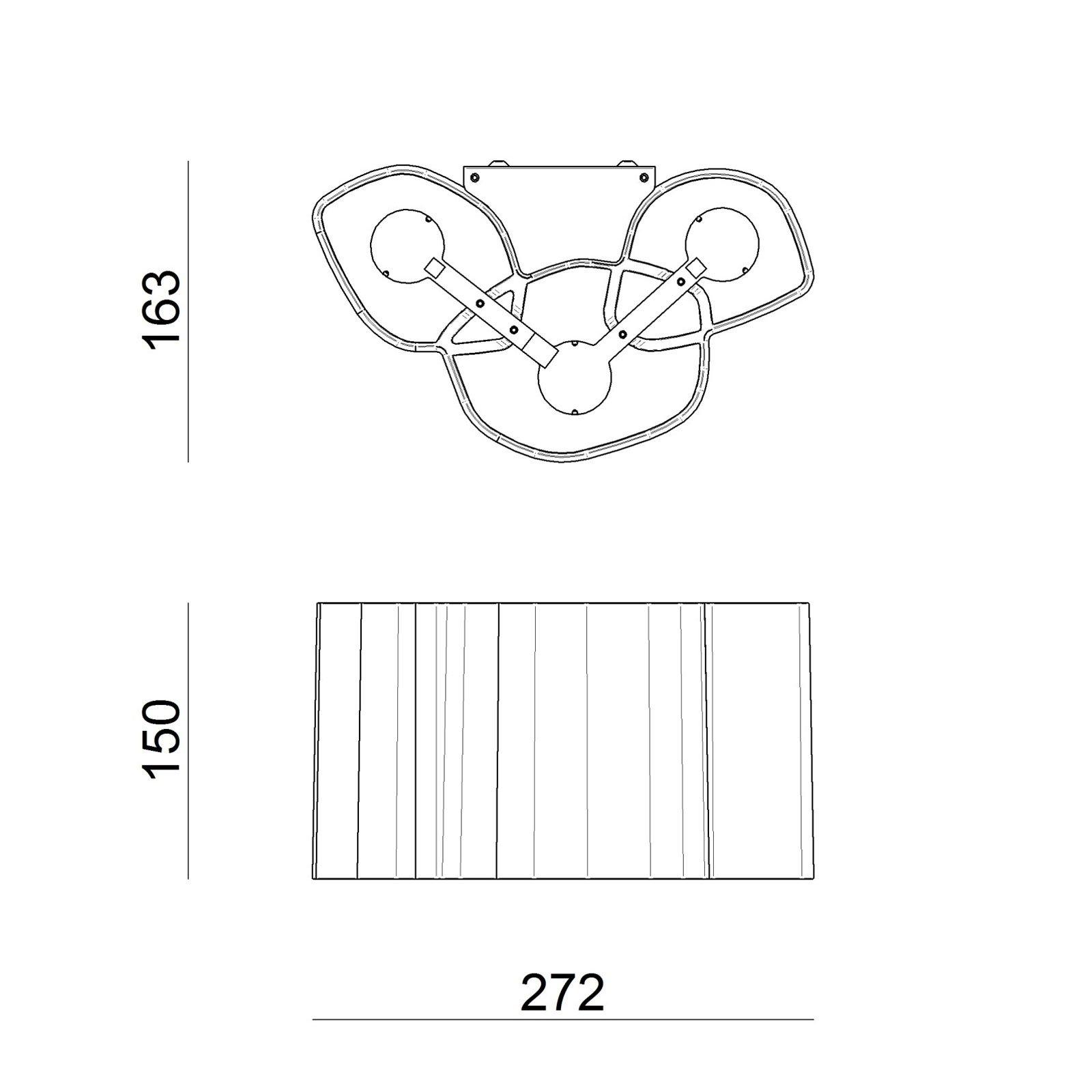 Honey LED-vegglampe 27,2 cm