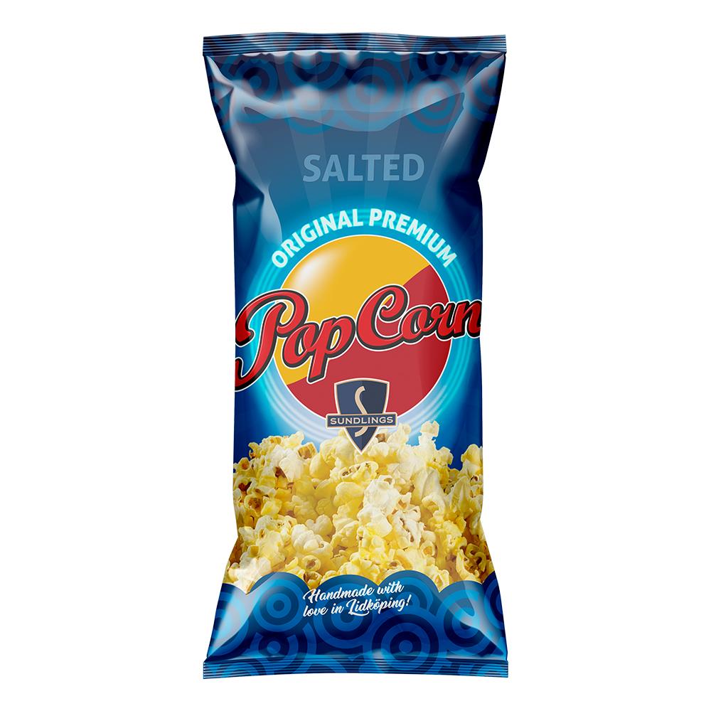 Sundlings Popcorn Saltade - 100 gram