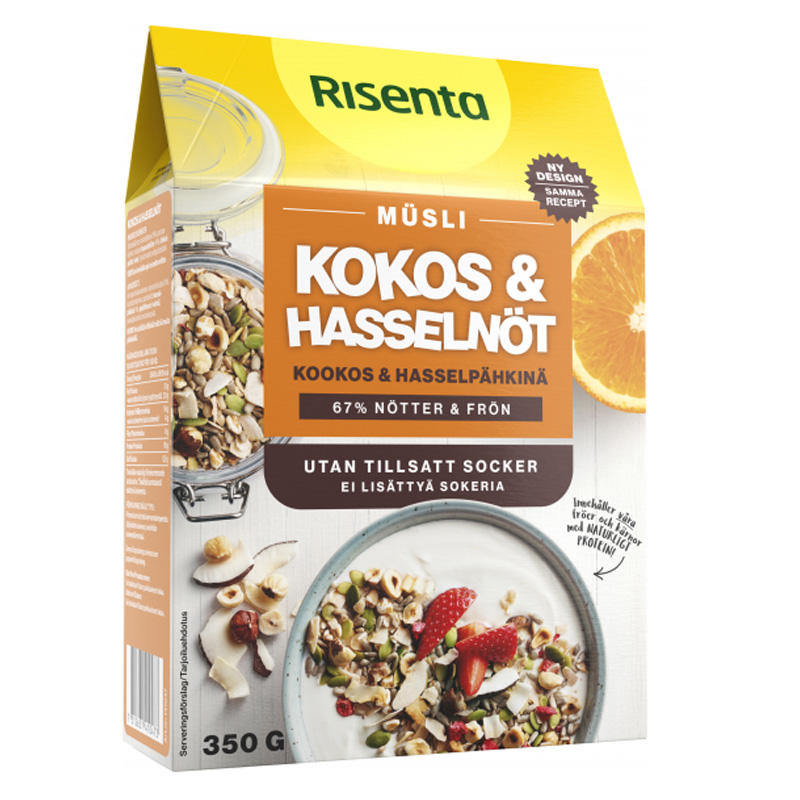 Müsli Kokos & Hasselnöt 350g - 26% rabatt