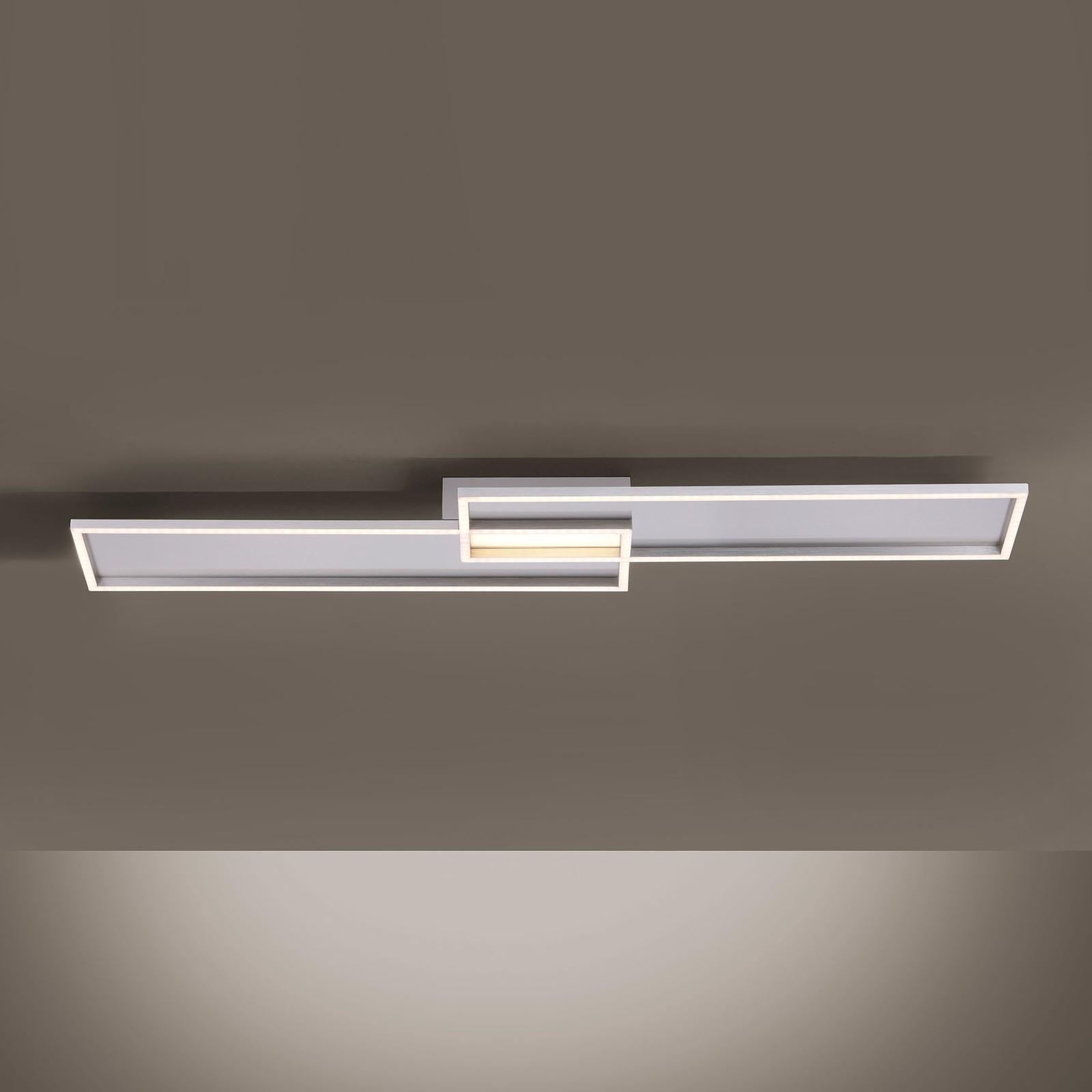 LED-kattovalaisin Amara, kaksi suorakulmiota hopea