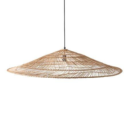 wicker pendant lamp triangle natural XL