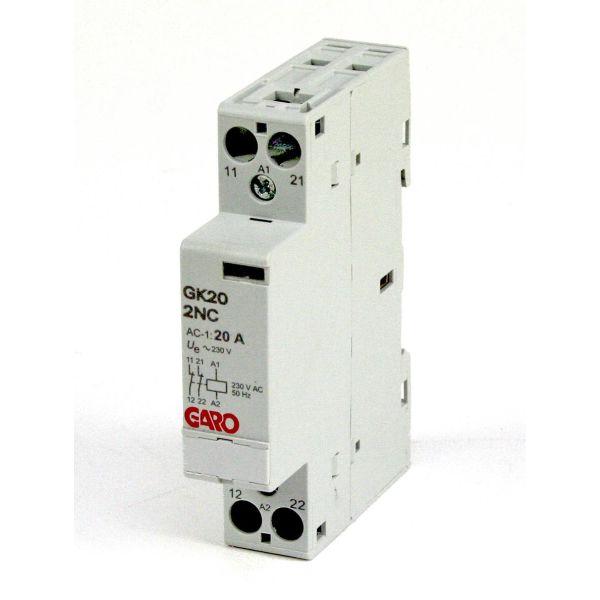 Garo GK20 2NC 230V AC Kontaktor 2-polet, 20 A 2 åpne