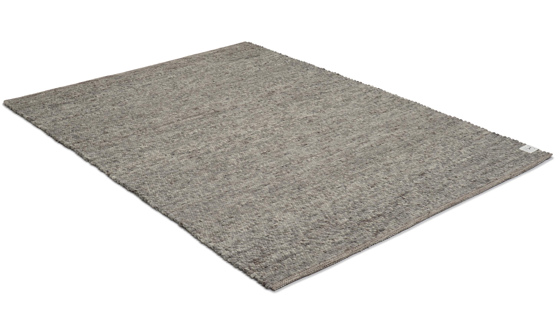 Merino grey - håndvevd ullteppe