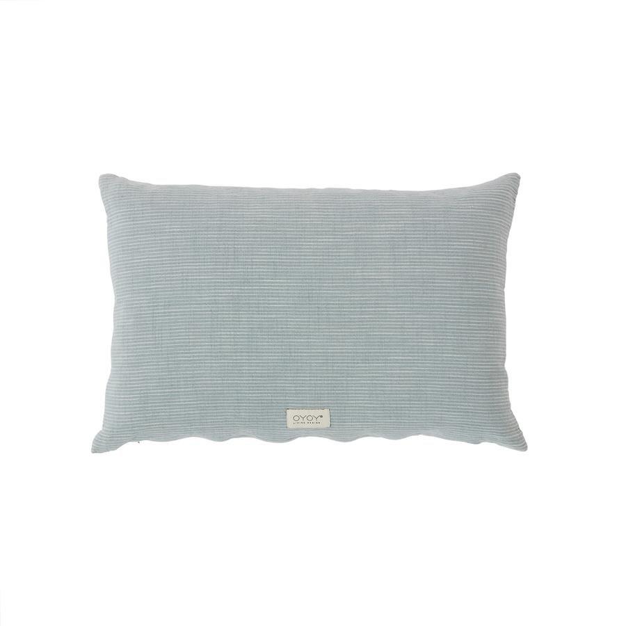 OYOY Living - Kyoto Organic Cushion - Dusty Blue