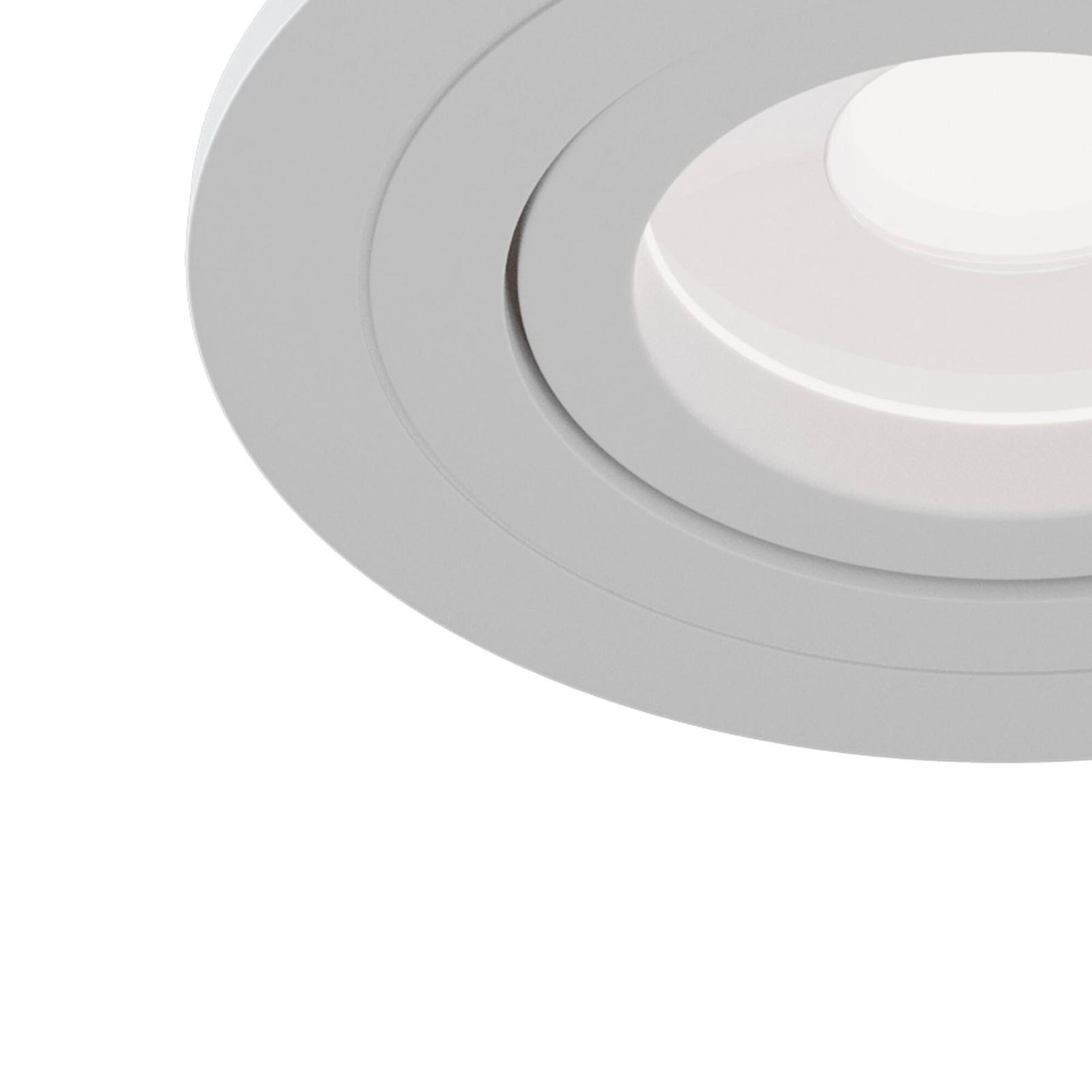 Uppokohdevalo Atom, valkoinen, pyöreä