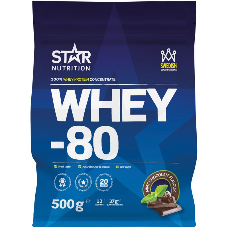 "Proteinpulver ""Whey 80 Mint Chocolate"" 500g - 0% rabatt"