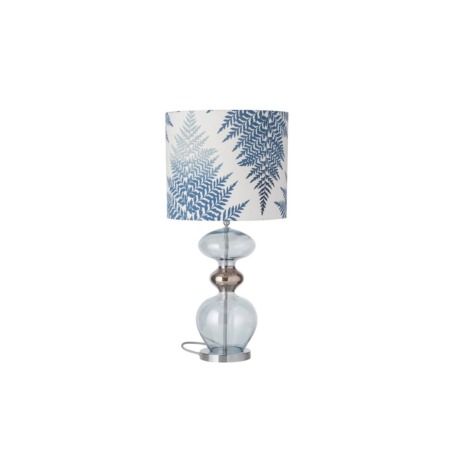 EBB & FLOW Futura -pöytälamppu, Fern Leaves indigo