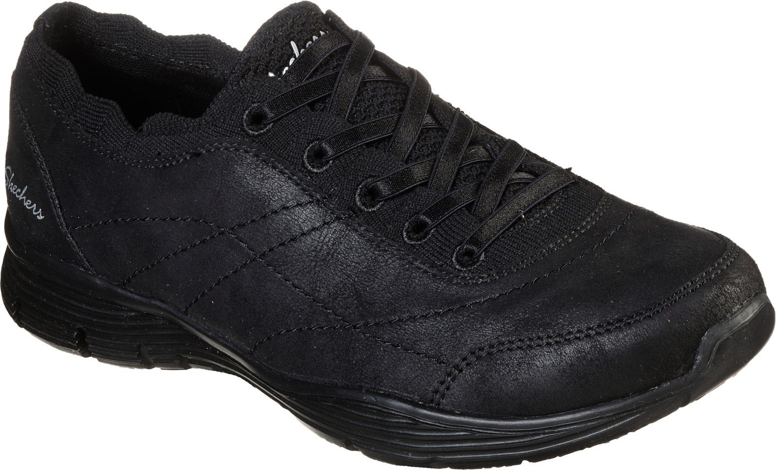 Skechers Women's Seager Scholarly Sports Trainer Various Colours 31063 - Black/Black 3