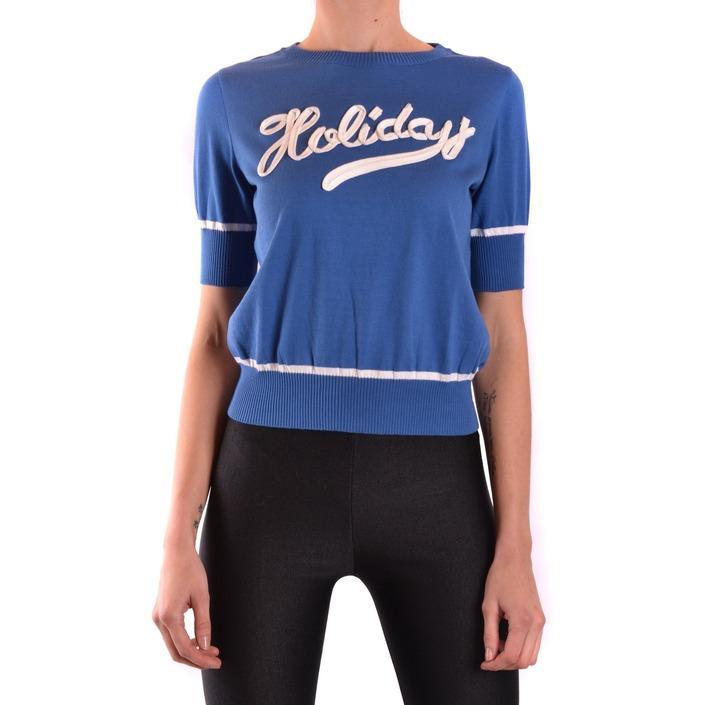 Boutique Moschino Women's Sweater Blue 187298 - blue 40