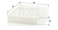 Raitisilmasuodatin MANN-FILTER CU 25 001