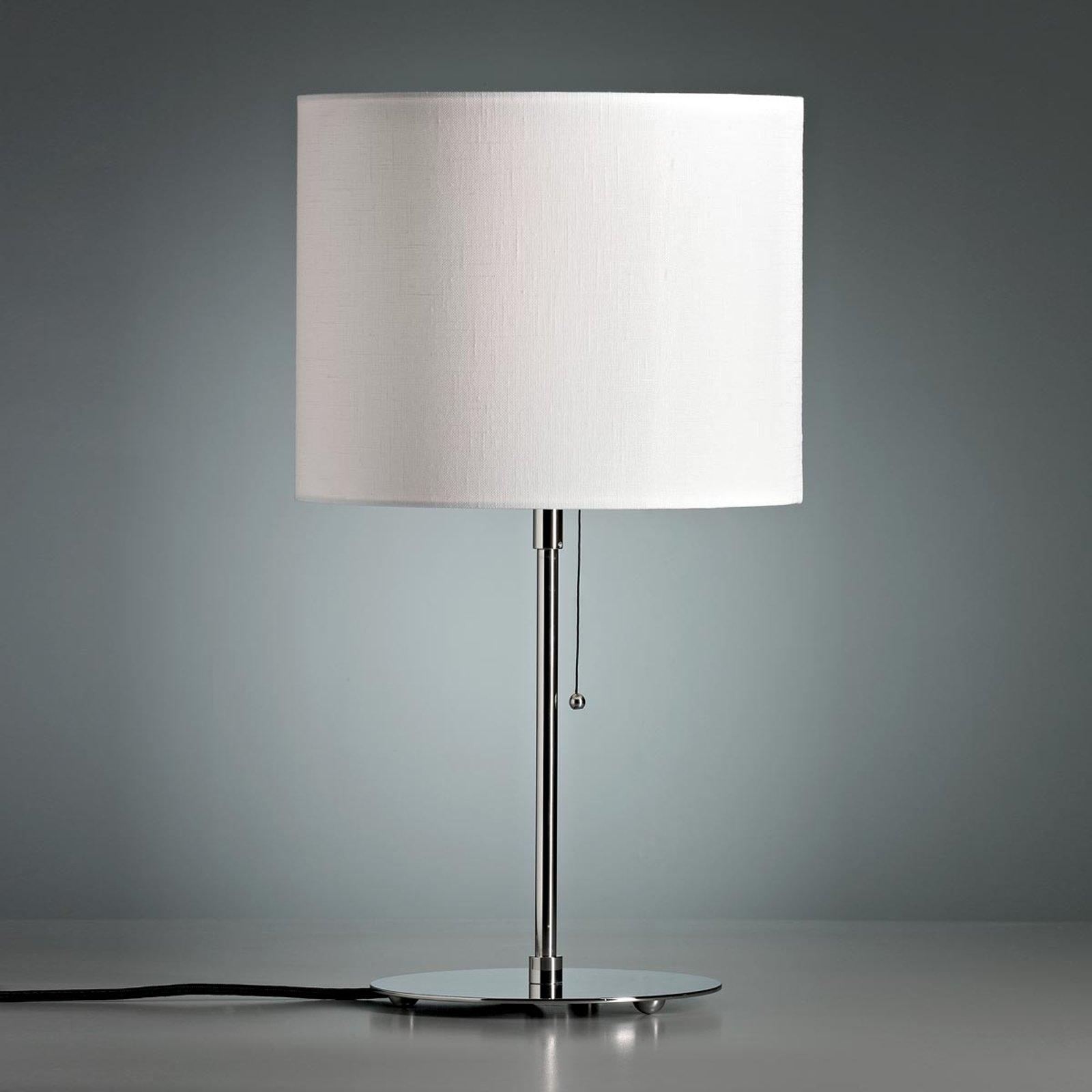 Bordlampe med farget linskjerm hvit