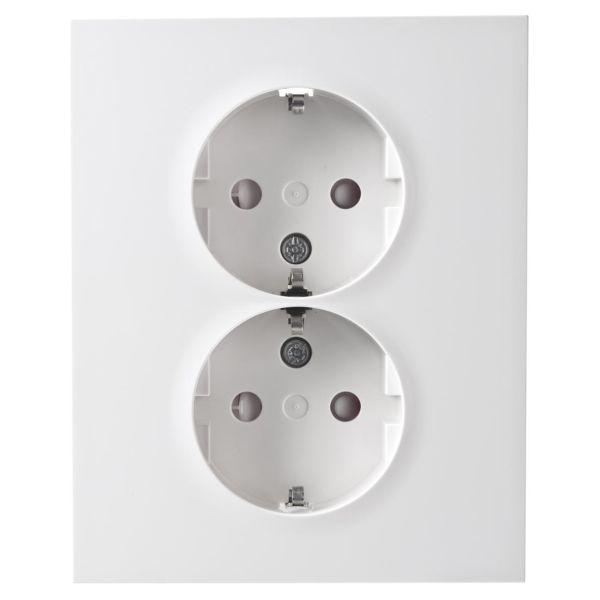 Elko Plus 2-V MJ Inf Skruv Seinäpistorasia Maadoitettu, 2-osainen valkoinen