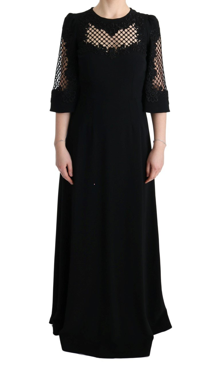 Dolce & Gabbana Women's Stretch Shift Long Maxi Dress Black SIG60573 - IT38|XS