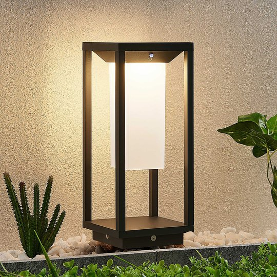Lucande Eliel -LED-pollarivalaisin, 34 cm
