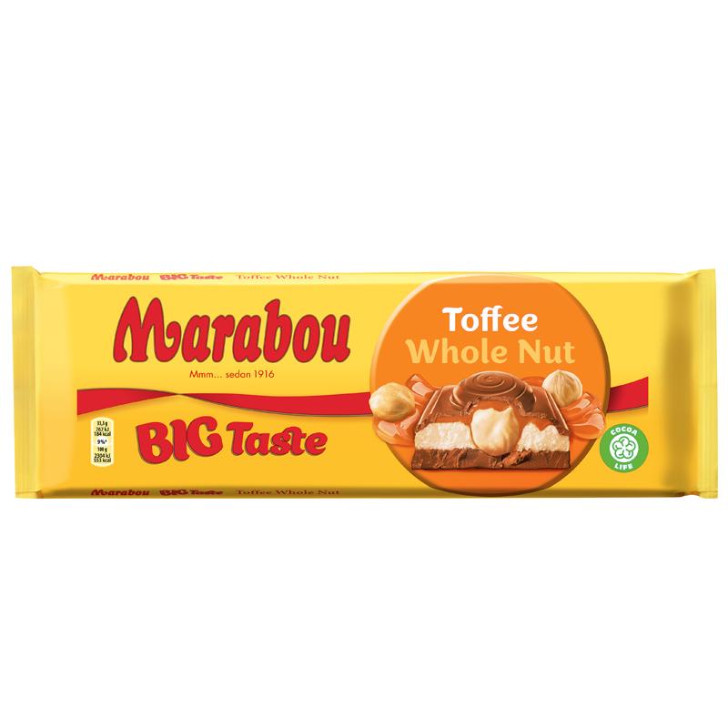 Suklaalevy Toffee Whole Nut - 22% alennus