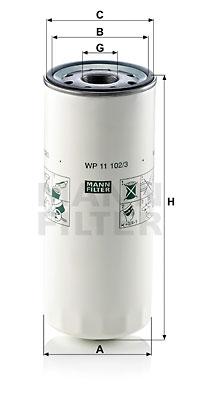 Öljynsuodatin MANN-FILTER WP 11 102/3
