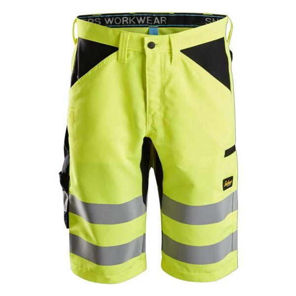 Snickers 6132 Shorts varsel, gul/svart C44