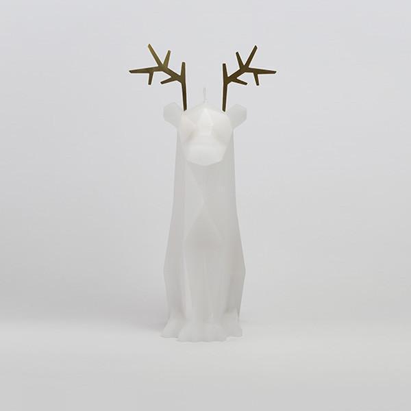 Pyropet Dýri White Reindeer Candle