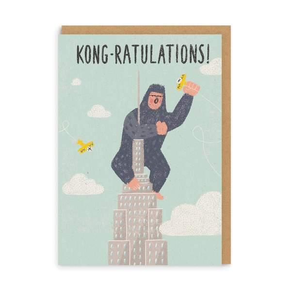 Kong-ratulations Congratulations Greeting Card