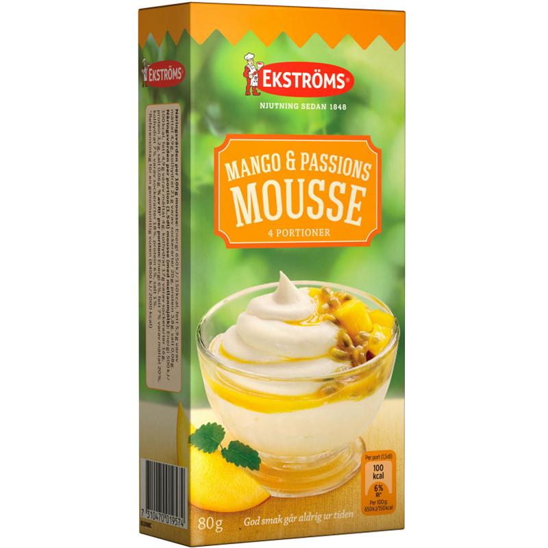 Mango- & Passionsmousse 80g - 50% rabatt